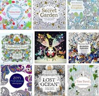 Wholesale Zen Mandala Secret Garden An Inky Treasure Hunt and Coloring Book For Children Adult Relieve Stress Kill Time Graffiti Painting Drawing Book