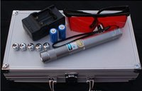 aluminum combustion - High Power Blue Beam Laser Pointer with Glasses Charger aluminum Combustion Lgnition Cutting Irradiate m SOS burning match camping