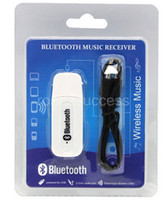 Wholesale Double Output USB Wireless Bluetooth mm Music Audio Car Handsfree Receiver Adapter USB Dongle mm Stereo Music Receiver for Speakers