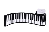 Wholesale PB88 Keys Tones Rhythms Electronic Flexible Roll Up Piano USB and MIDI Port with Speaker for Children