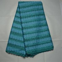 Wholesale 2016 Luxury Teal Green yards African Lace Swiss Voile Guipure Cord Lace Fabric for party or wedding dress QA140