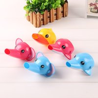 Wholesale Cartoon Faucet Extender For Kid Children Hand Washing In Bathroom Sink Elephant Dolphin Duck Bathroom Accessories Hot