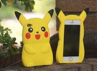 apple ii plus - 3D Poke Pikachu Soft Silicone GEL Case For Iphone S Plus I6S S SE LG K5 K7 K8 K10 Huawei P8 P9 Lite Y3 Y5 II HTC Cartoon Skin