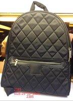 Cheap Backpack Style Fashion woman's V-shaped chain Backpack School Bag black casual Bag Stripe Backpack