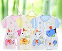bamboo baby boy short - Newborn Baby Girls and Boys Summer Clothes Printing Bamboo Fiber ONE PIECE SUIT Short Sleeve kids Climbing Clothing