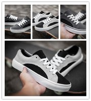 Wholesale 1 quality Brite Old Skool black gray white gray suede low board shoes