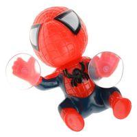 Wholesale 16CM Spiderman Window Sucker Car Accessories Spider Man Toy Climbing Spiderman Window Sucker Spider Man Doll Car Interior Decor