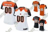 bengal jerseys - 2016 Custom Women s Cincinnati Bengal Game Football Home Away Personalized Jersey Authentic High Quality Stitched Wear