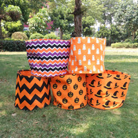 Wholesale 2016 New Coming Candy Blanks Microfiber Halloween Tote Bucket Treat or Trick Tote Halloween Gift Collection Bag EAD107