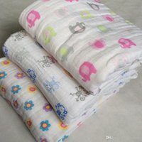 Wholesale 5pcs of special eight layer thickened baby blankets blankets increase Musilin cotton gauze holding blanket