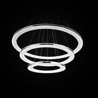 Wholesale Europe Integrated Acryl Modern LED pendant light Fixtures Hanging Chandelier Lamp circle LED Lustre de Ikea Indoor Lighting Decoration
