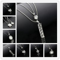 asian bottle - New Style Korean Women Fashion Crystal Long Necklace double layer perfume bottle type necklace