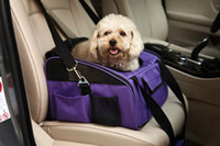 Wholesale pet dog puppy car seat travel bag carrier crate cage house beige purple