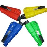 Wholesale Keychain Car mini Emergency safety hammer Seat Belt Cutter window Glass Breaker whistle Life Hammer Car Emergency Rescue Tool