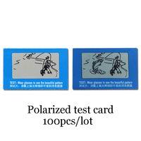 Wholesale TAC Polarized Lens Test Card For Testing Polarizing Sunglasses Size cmx4cm