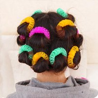 Wholesale 6 Large size cm New Hair Styling Roller Hairdress Magic Bendy Curler Spiral Curls DIY Tool