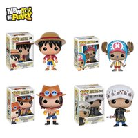 Wholesale 2016 Funko POP Luffy Chooper Grafalgar Law Portgas D Ace One Piece Vinyl Figure Collectible Model Toy