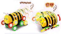 bee dog toy - 2016 Robot Dog Electric Cartoon Bee Bucket Stunt Car Automatic Flip Children Novelty Toys Boy Interactive Gift Toy Babyshining
