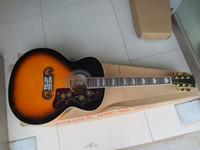 Venta caliente Sunburst a estrenar SJ200 VS Guitarra 6 cuerdas Guitarras eléctricas acústicas con pastillas