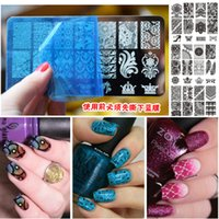 Wholesale New Flower Lace Nail Stamping Plates Stainless Steel Nail Art Stamp Template Manicure Nail Plates Tools
