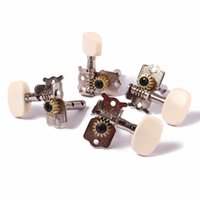 Wholesale 2R2L Tuning Peg Machine Head Tuners For Ukulele String Guitar with Ivory Button Keys Chrome
