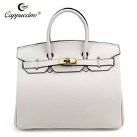Wholesale 2016 cappuccino new collection Top grian Genuine leather handbag leather Lady bag leather women handbag