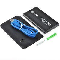 Wholesale S5Q quot Sata to USB New Design Hard Disk Drive CADDY HDD External Hard Disk Case External Enclosure Black