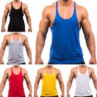 Wholesale Hot Seller Men s Adult Tank Tops Vest Thin Strap Training Bodybuilding Weightlifting Loose Cotton Blends Size M L XL XXL EC96