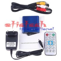 Wholesale 100 pieces Mini Full HD P Player with Remote Control AV HDMI Output Support USB SD MKV RM RMVB