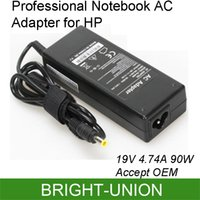 Wholesale AC Adapter Notebook Charger For HP PC Seashell V A W Power Supply Cord mm accept OEM