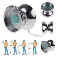 Wholesale 1 Professional Bearing String Trick Stainless Steel Metal Toys Silver YoYo Yo yo Ball east