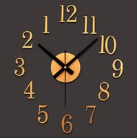 Wholesale Classic Acrylic Texture Vintage Wall Clock D Tridimensional DIY Watch Wall Novelty Reverse Wall clocks home decor