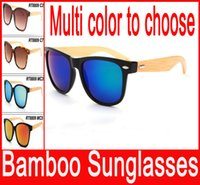 amber products - Bamboo sunglasses Retro wooden Sunglasses wooden glasses for man women excellent products fashion eyewear New Hot