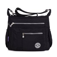 Wholesale 2016 Womens Fashion Small Lightweight Nylon Cross body Shoulder Bag Casual Messenger Bag with Zipper Pockets