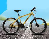 mountain bikes - Cheap inch speed Mountain Bike Carbon steel Double disc mountain bike Off road riding Cycling