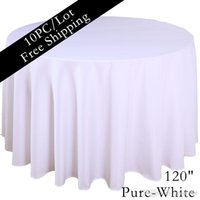 wedding table cloths - 10PC inch Table Cloth for Dining Table Polyester Seamless Machine Washable Round Table Cloth for Wedding Marriage Black Tablecloth