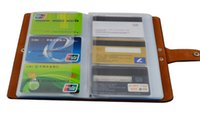 Wholesale New Arrival Travel Credit Card Holder PU Leather ID Business Card Cover Pocket Brand Designer Wallet Cards Case
