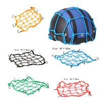 Wholesale 1Piece Bike Net Motorcycle Car Nets Accessories Hooks Fuel Tank Lage Helmet Bungee Web cm Helmet Bag Random Color order lt no tr