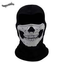 Wholesale Outdoor Face Protection Airsoft Paintball Shooting Gear Full Face RIB Airsoft Mask Tactical Ghost Skull Mask