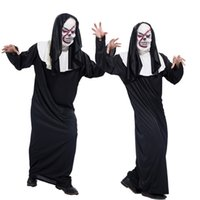 Wholesale Halloween masquerade men died movie Scream ghost God clothing performance clothing death haunted house dress bleed the mask