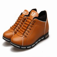 Wholesale 2016 New style men leisure casual palmilha shoes invisible height increased roshe shoes pantufa sapatos balance masculino