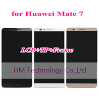 Wholesale Black White Gold LCD TP Frame for Huawei Ascend Mate7 Mate LCD Display Touch Screen Digitizer with Frame Tools
