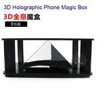 Wholesale 3D Holographic Phone Degree Virtual Projector Magic Box for Birthday Christmas Holiday Gift