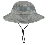 Wholesale Bucket Fishing Hats fashion hot sale Camouflage Outdoor Sun Cap Washed Cotton Hunting Wide Cap