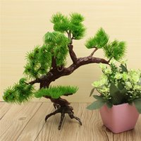 aquarium trees - Best Price Inch x13 Inch Green Brown Artificial Plastic Bonsai Pine Tree Fish Tank Aquarium Ornament Decor