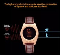 Wholesale New Q8 Bluetooth Smart Watch inch Heart Rate Monitor Pedometer Anti lost Stopwatch Fitness Tracker Smartwatch Genuine Leather Free DHL
