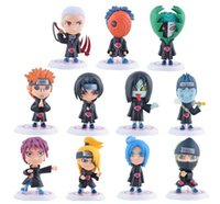 Wholesale Naruto Cartoon Action Figures comic Doll toys for Children Action Figure Decoration Model Toys Children Festival Gifts set