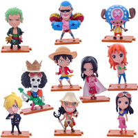 Wholesale 12cm One Piece set Action Figures Anime PVC brinquedos Collection Figures toys AnnO00521A