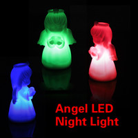 baby night lights - Romantic LED Colors Angel Light Colorful Baby lovely Night Light Cute Small LED Night Light for Christmas Gifts