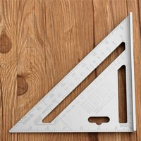 Wholesale 7inch Silver Aluminum Alloy Speed Square Roofing Triangle Angle Protractor Try Square Carpenter s Measuring Layout Tool